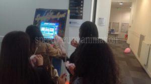 Borne de jeu lors d'un événement étudiants